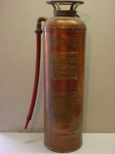 A soda-acid (CO2 and Sulfuric Acid) fire extinguisher